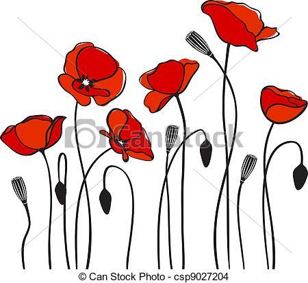 Drawn poppy simple Clipart poppies poppy red Art