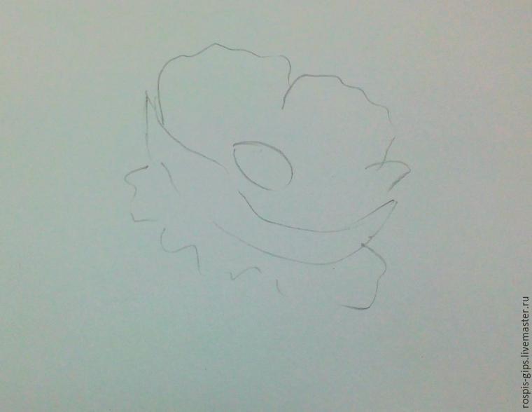 Drawn poppy detailed (