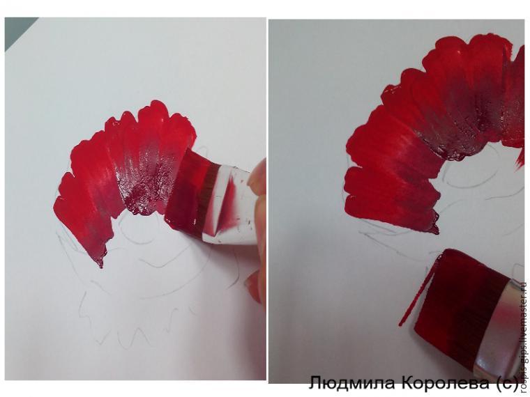 Drawn poppy stroke The close most? poppy in