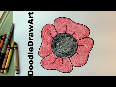Drawn poppy veterans day An Remembrance Drawing How To