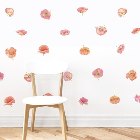 Drawn poppy wall Project Hand Hand Nursery Floral