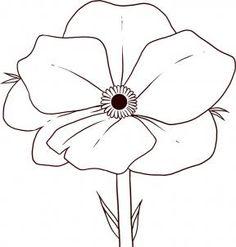 Drawn poppy ww1 poppy Flanders field Drawings to poppy