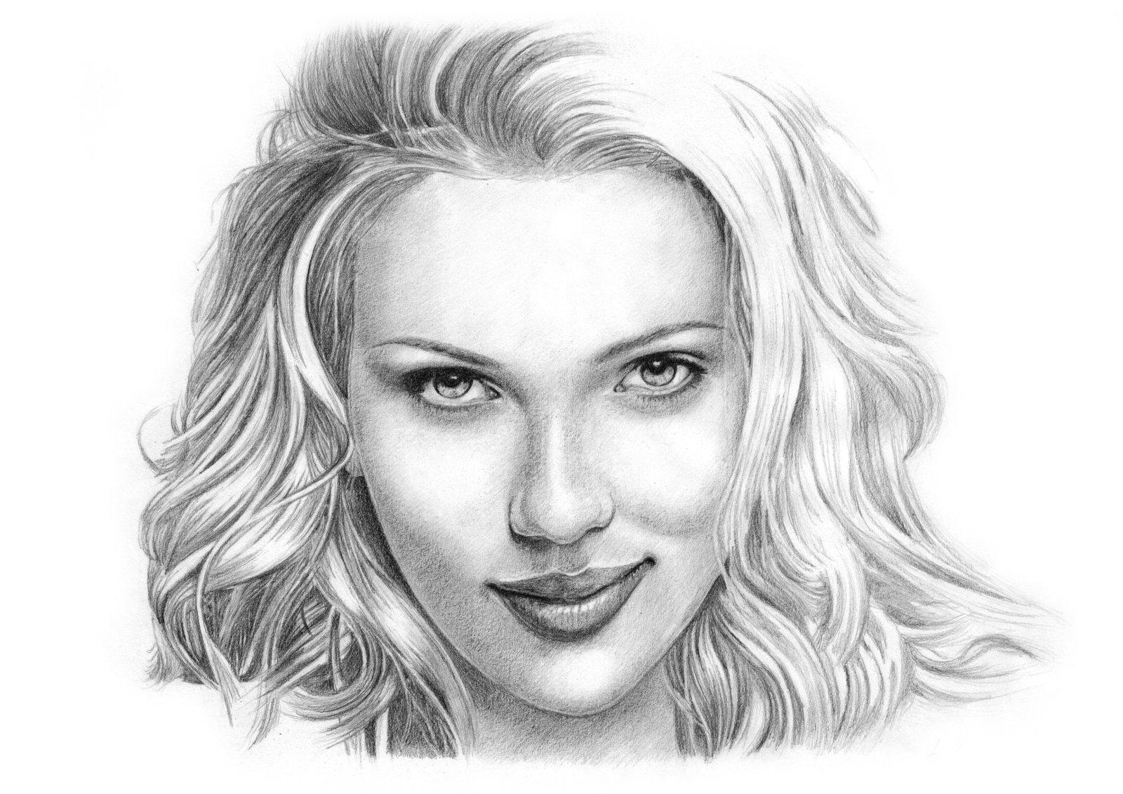 Drawn portrait Alien1design Lessons Portraiture on Johansson