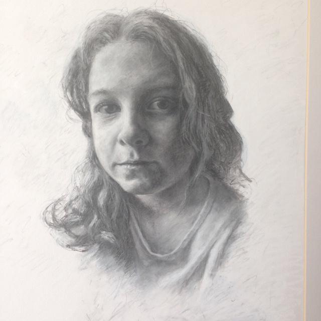 Drawn portrait PORTRAITS Parker Lily Pastel/Charcoal DRAWN