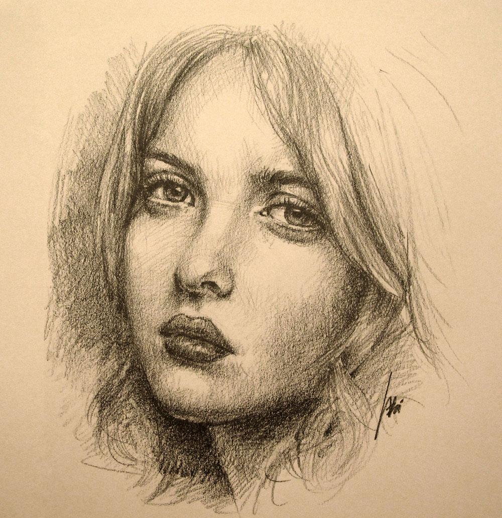 Drawn portrait How Wei Portrait a to