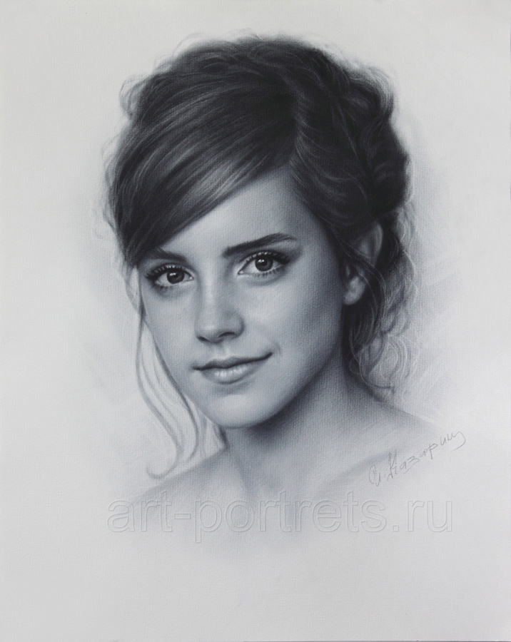 Drawn photos deviantart Face drawing Watson portrait Emma