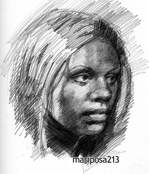 Drawn portrait Mariposa213 Lessons Portraiture on drawn
