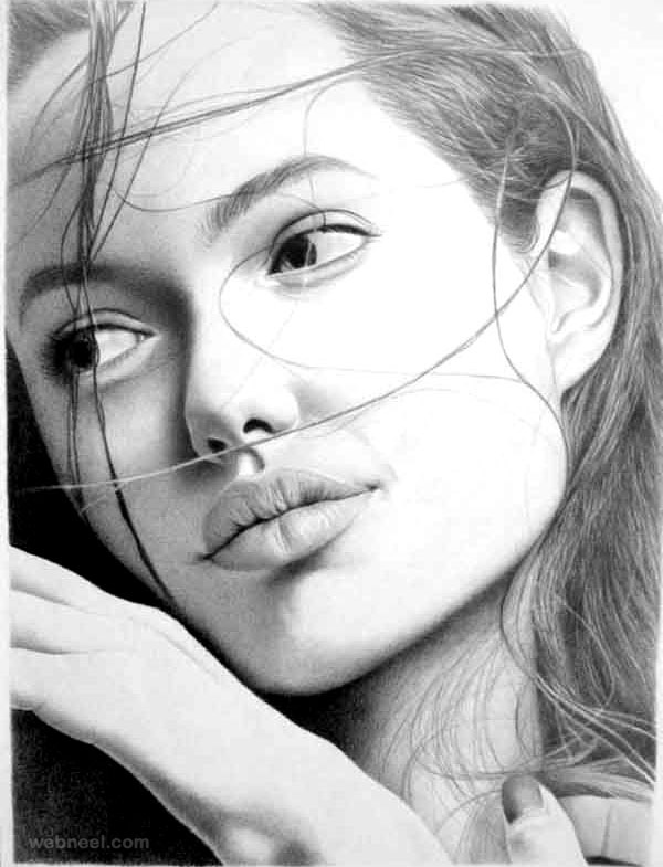 Drawn portrait Drawing Portrait Drawings Beautiful 40