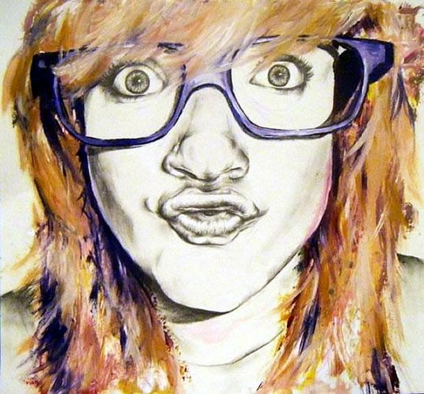 Drawn portrait a level art sketchbook Coursework Art) Portraiture: (A creative