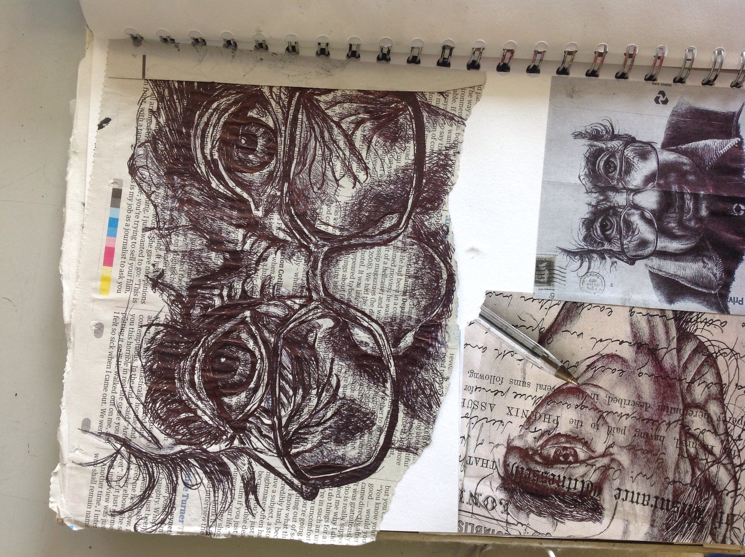 Drawn portrait a level art sketchbook Pen the can Ideas see