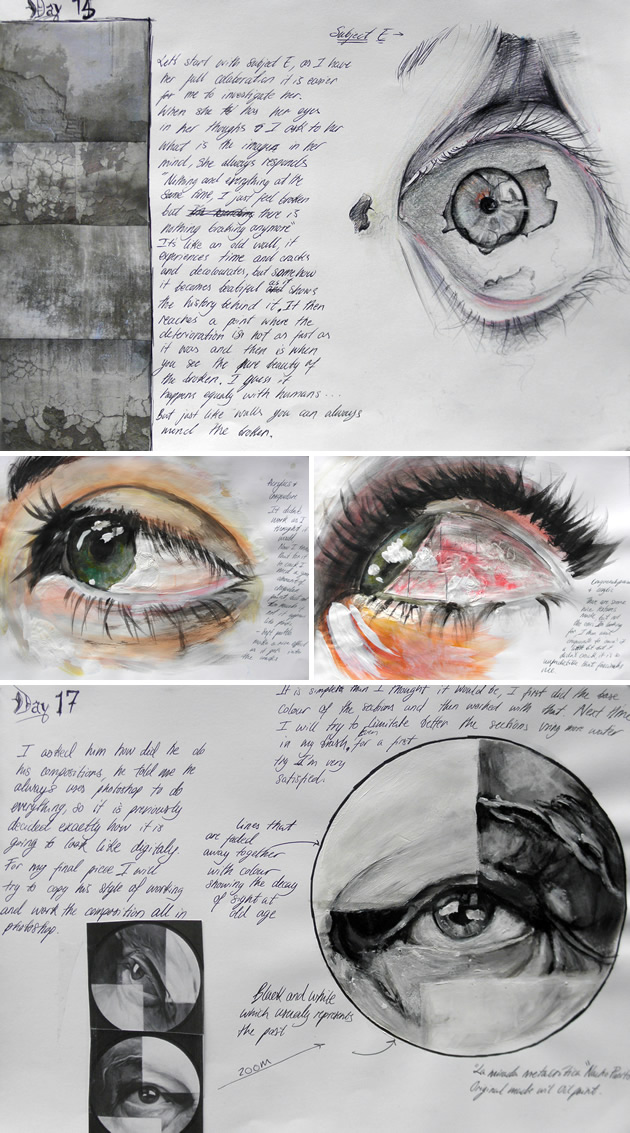 Drawn portrait a level art sketchbook How eyes Art on draw
