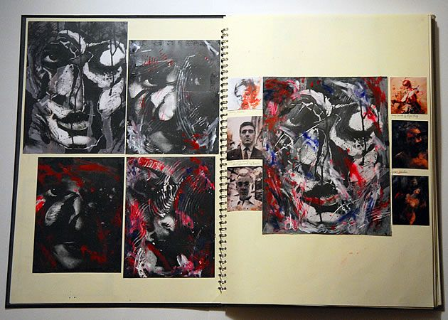 Drawn portrait a level art sketchbook Herefordshire Paper Exciting Exciting and