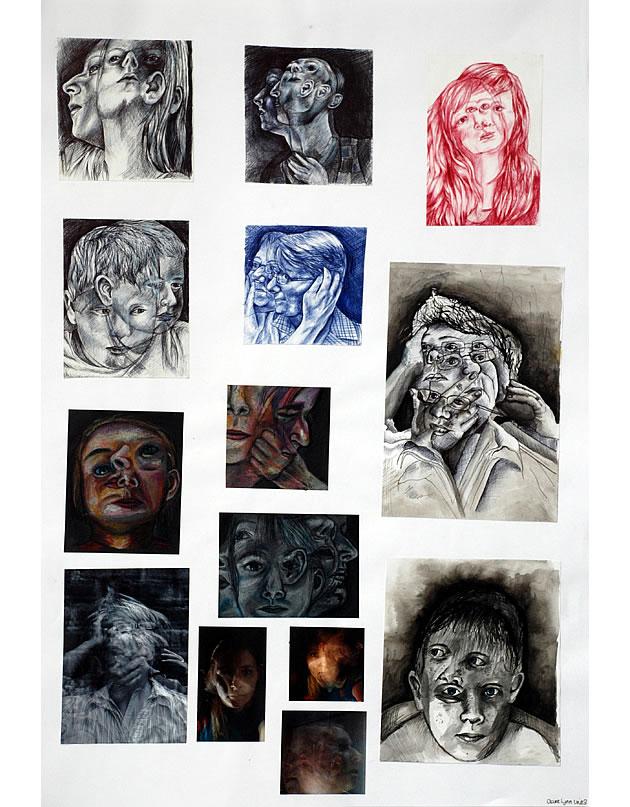 Drawn portrait a level art sketchbook Stunning Sketchbook Art Preparation Level