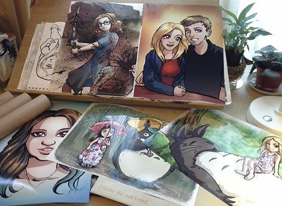 Drawn portrait anime And customers is drawn Each