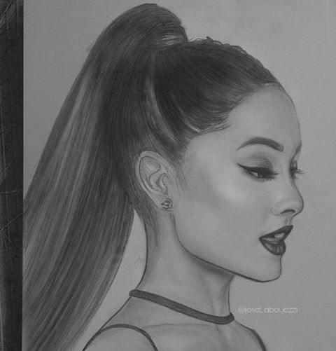 Drawn portrait ariana grande #drawing TAG ariana on ARIANA