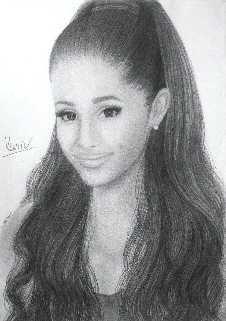 Drawn portrait ariana grande By Ariana GagaxFan by Grande