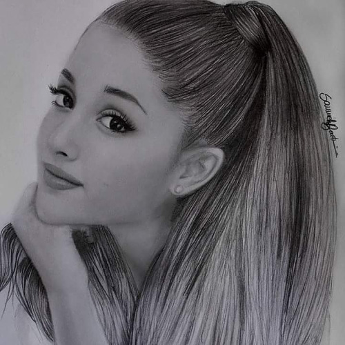 Drawn portrait ariana grande Realistic Ariana Images Grande Pencil