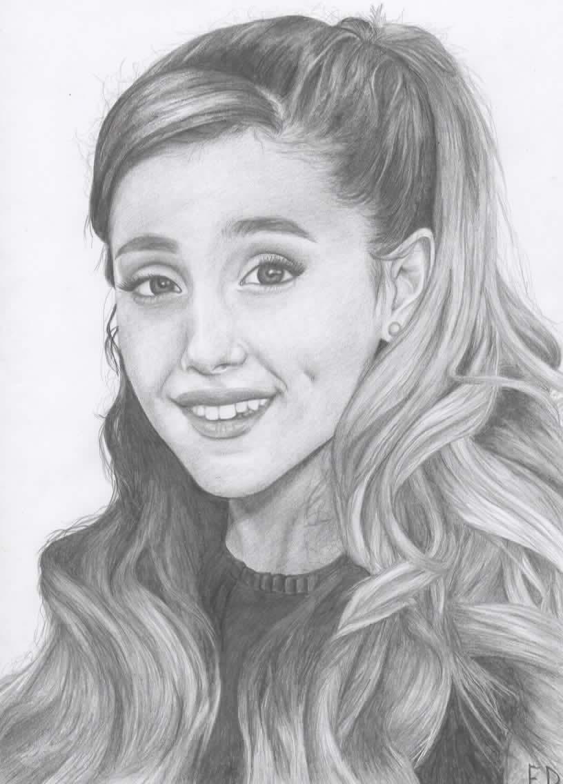 Drawn portrait ariana grande By Ariana Antylopa on by