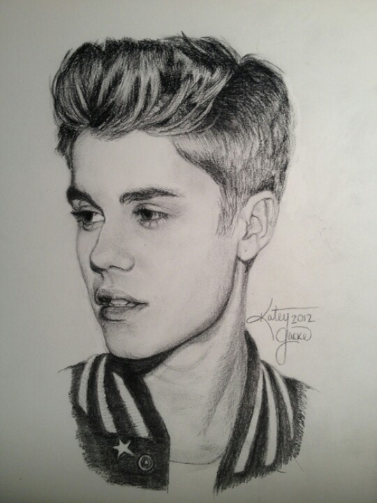 Drawn portrait awesome Pinterest #justinbieber perry drawings on