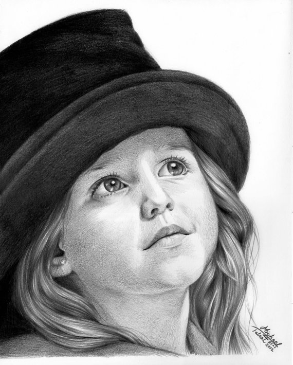 Drawn portrait baby $100 your MichoART that gift