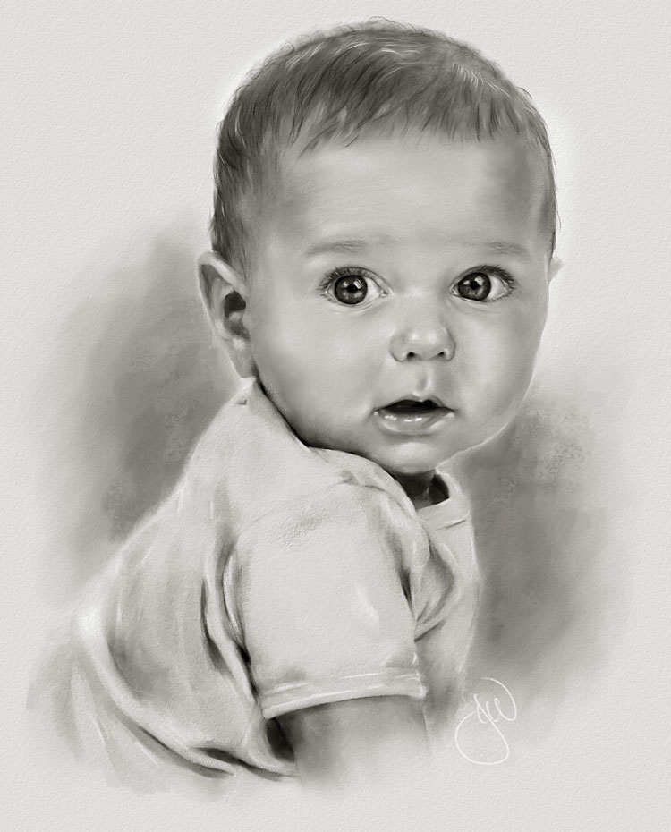 Drawn portrait baby Art DrawingDrawing DESENHOS Drawing Giclee