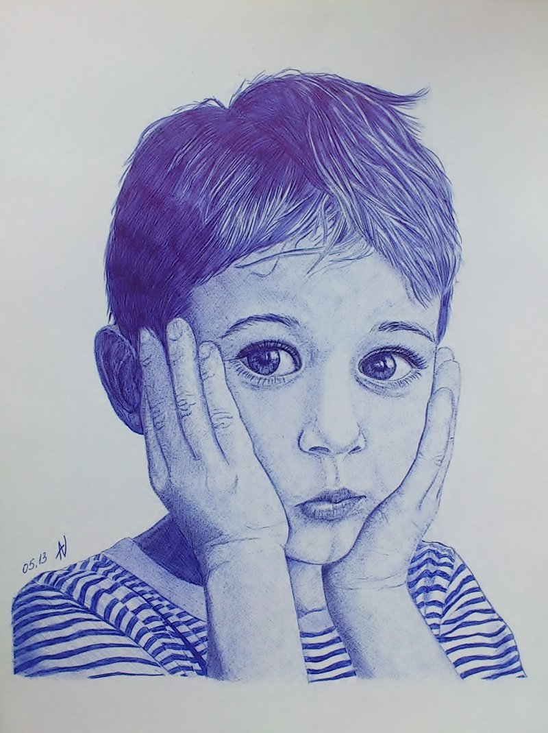 Drawn portrait ballpoint pen By pen portrait Ballpoint DeviantArt