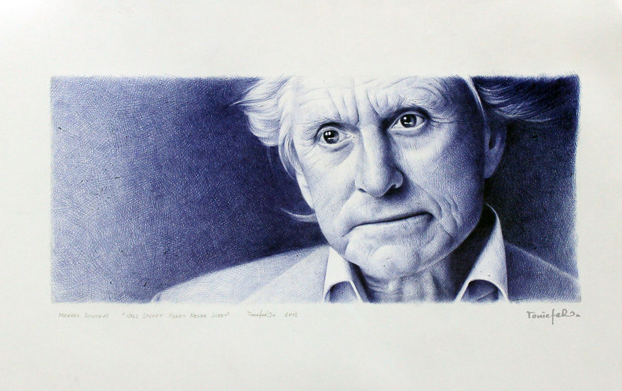 Drawn portrait ballpoint pen Pen By  Efer Realistic