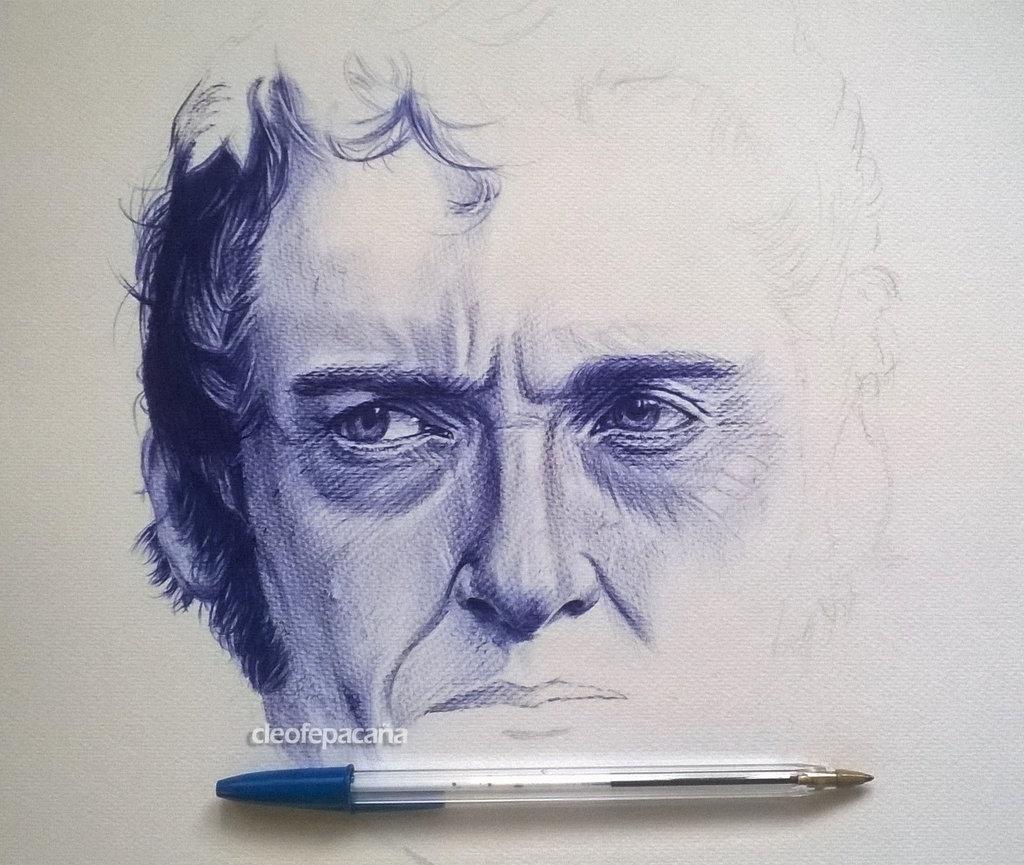 Drawn portrait ballpoint pen Wip cLoELaLi11 ballpoint cLoELaLi11 pen