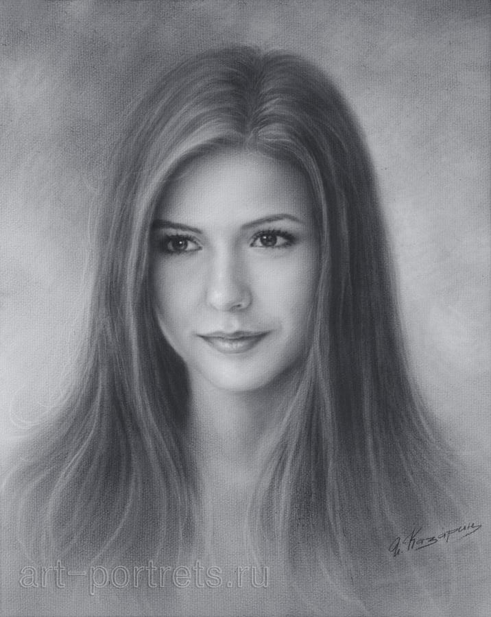 Drawn portrait beautiful woman DeviantArt Nina Drawing 147 Brush