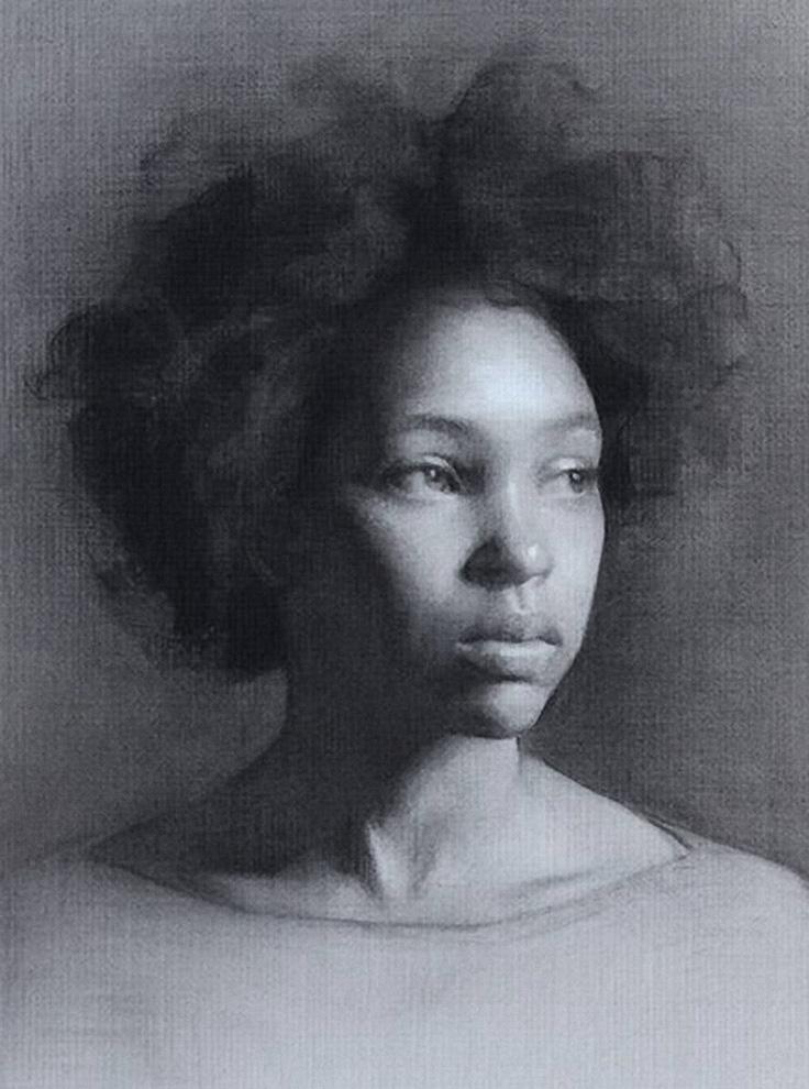 Drawn portrait beautiful woman American American  woman George