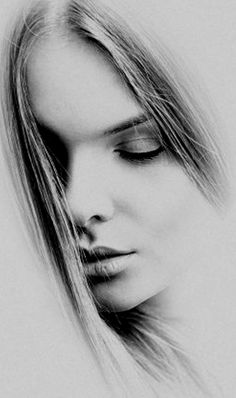 Drawn portrait beautiful woman Drawings Chica Más female faces