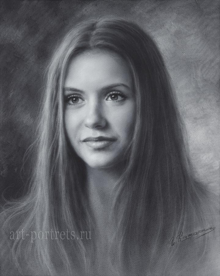 Drawn portrait beautiful woman DeviantArt Nina Drawing 118 Brush