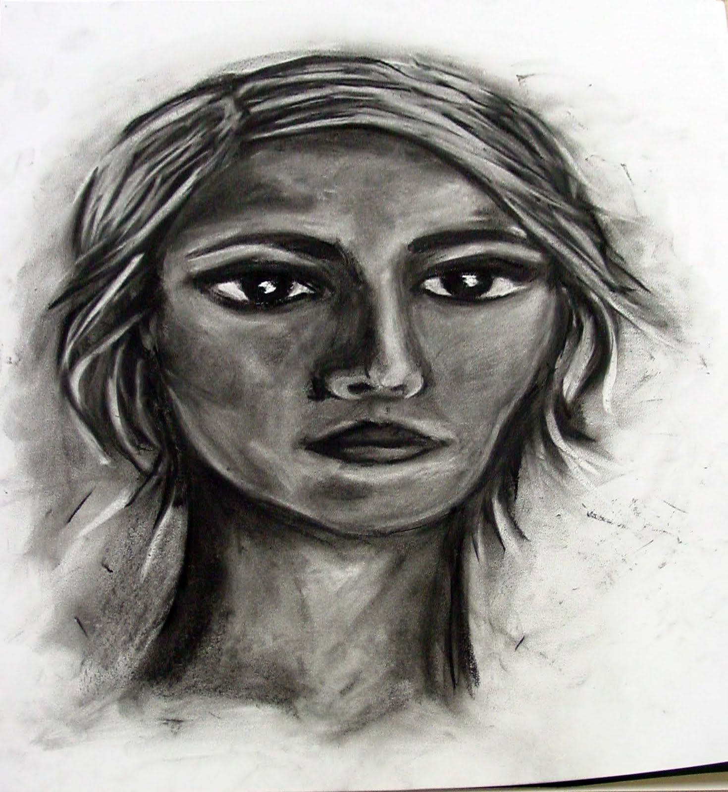 Drawn portrait beginner And not achieved of Katie's