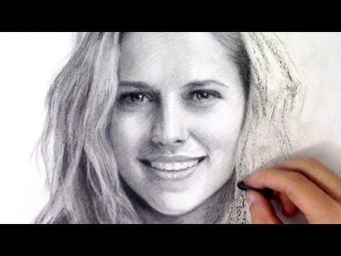Drawn portrait beginner Video Teresa time Charcoal Palmer