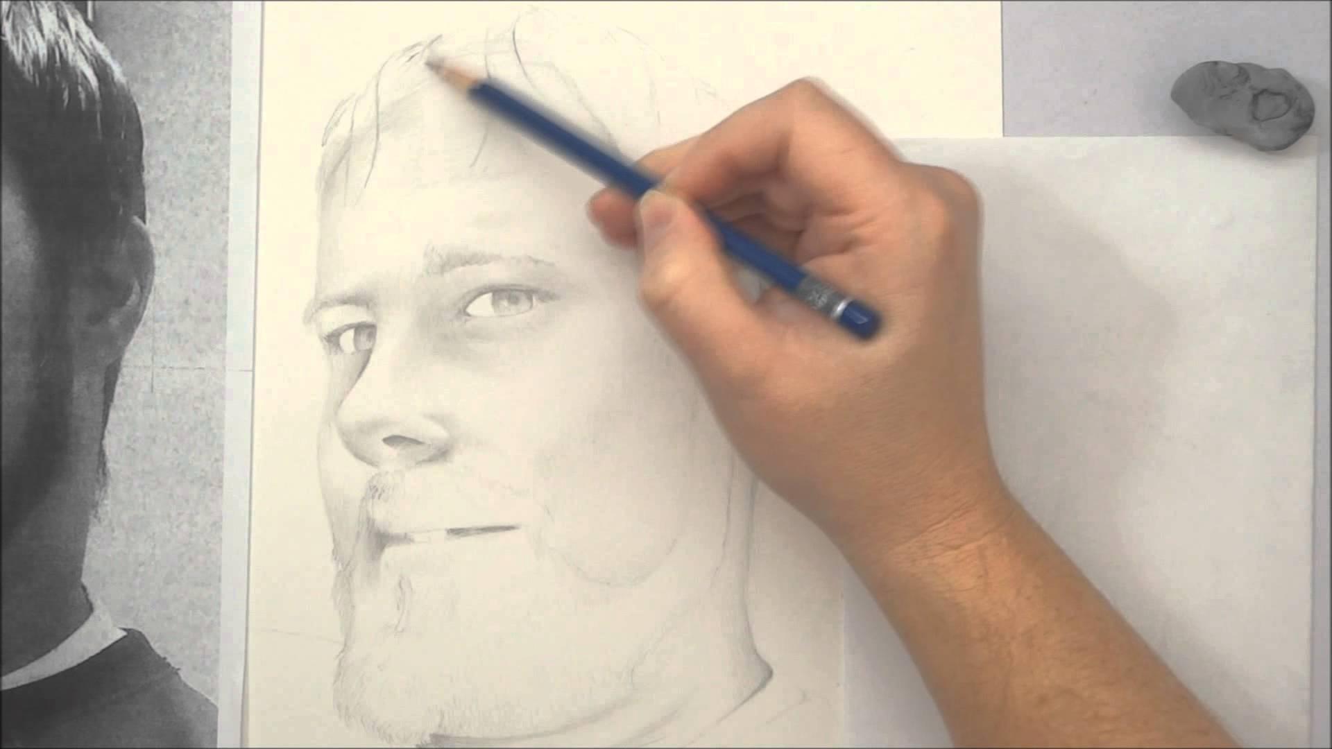 Drawn portrait beginner Beginners YouTube Part Layering Part