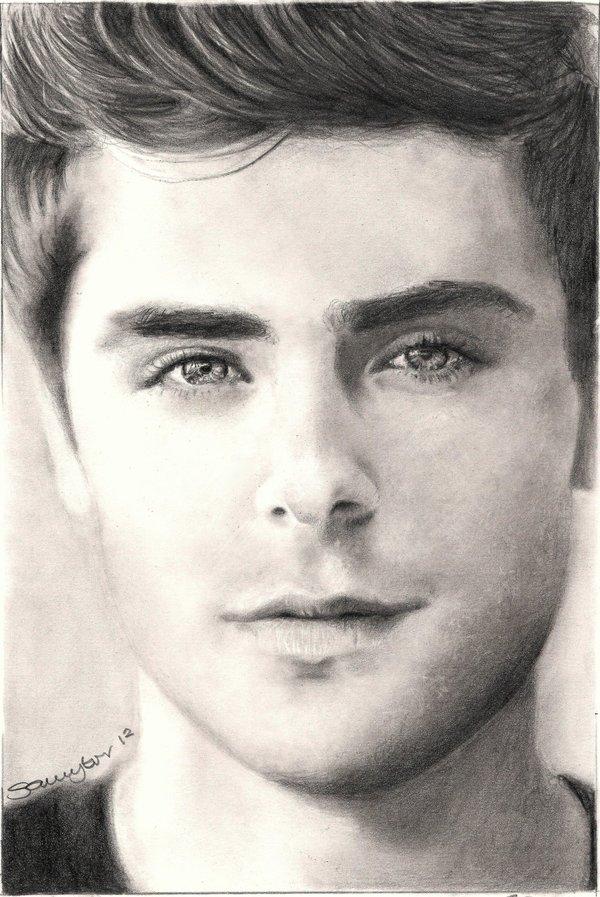 Drawn portrait best face Pinterest List on deviantART Efron