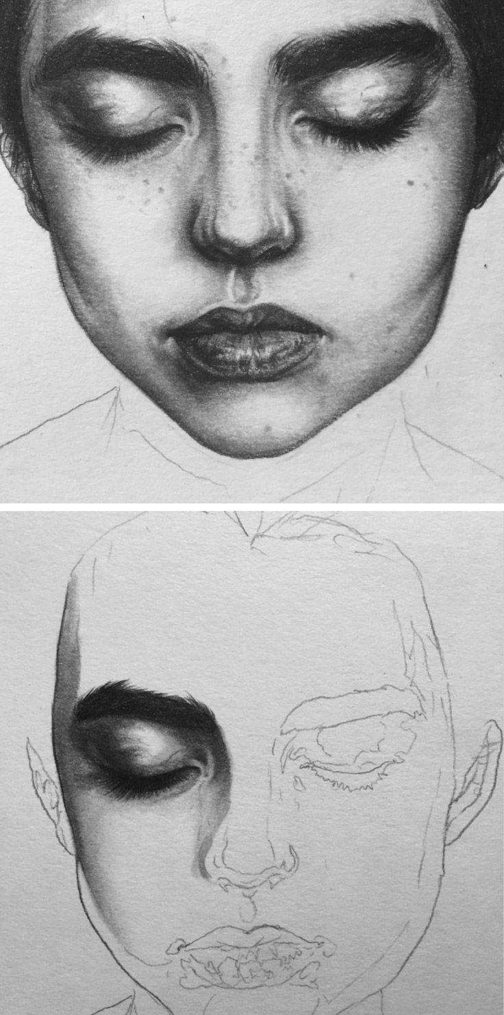 Drawn portrait best face Drawing 551 Pinterest images com