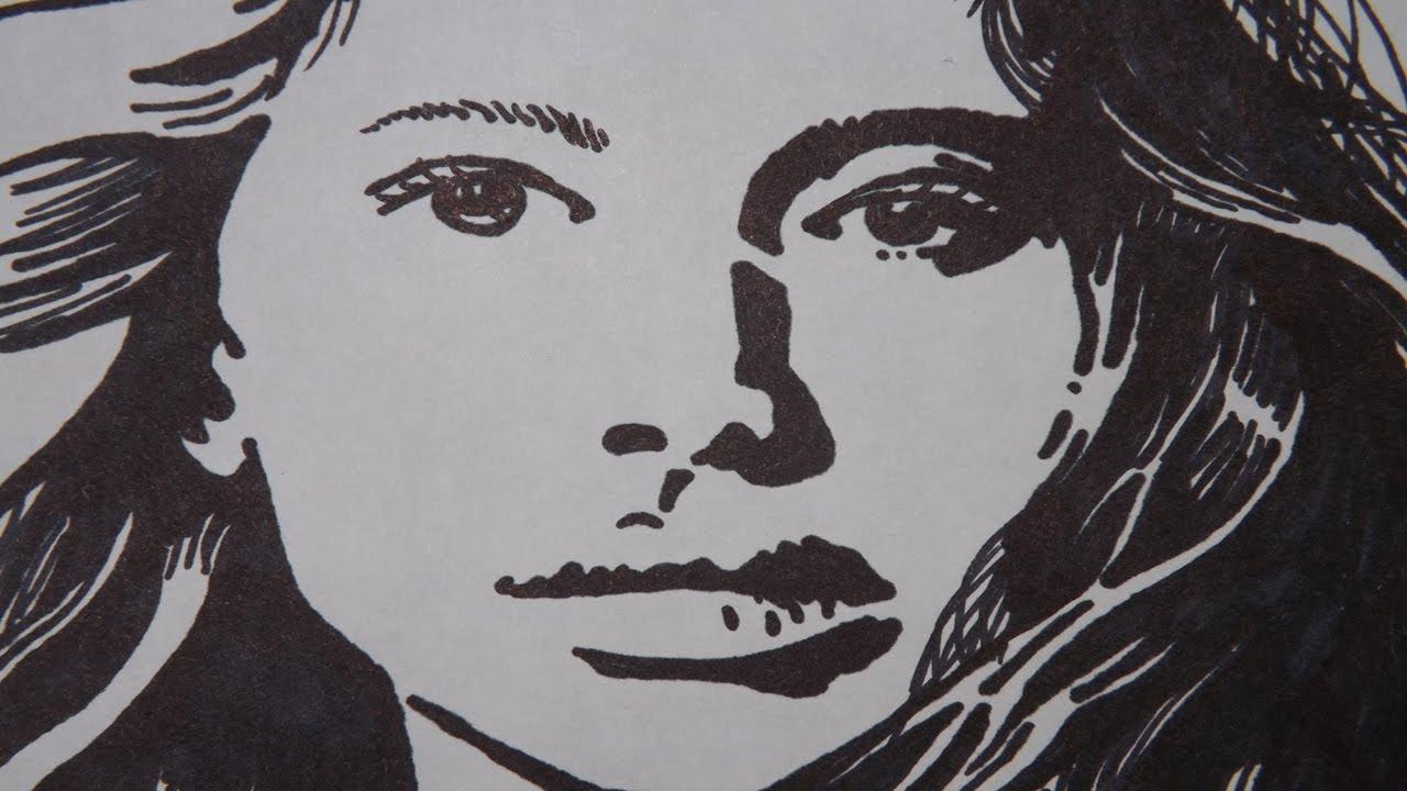 Drawn portrait black and white  YouTube DRAW PORTRAIT BLACK