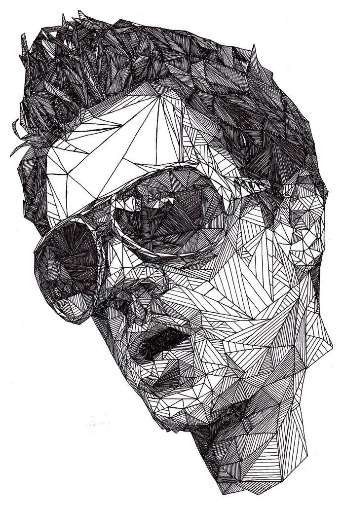 Drawn portrait black pen Josh 821 by Bryan ::