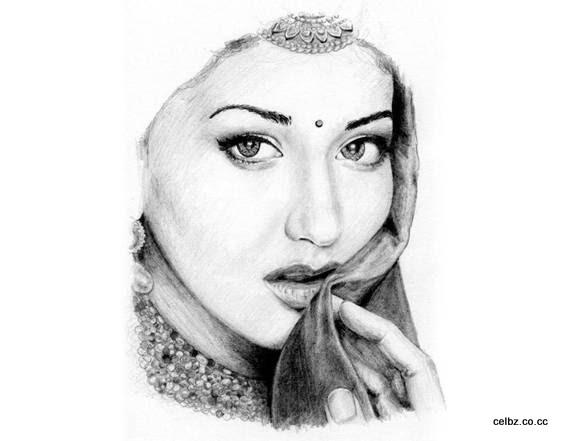 Drawn portrait bollywood Pencil Gallery: art Bollywood Gallery: