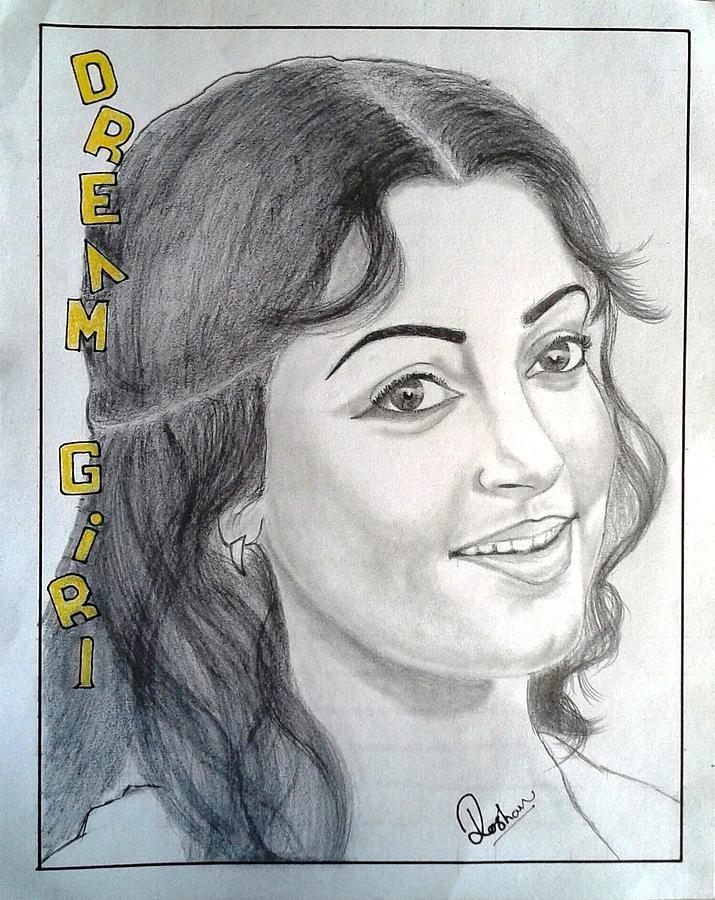 Drawn portrait bollywood Pencil Actress Roshan actress com