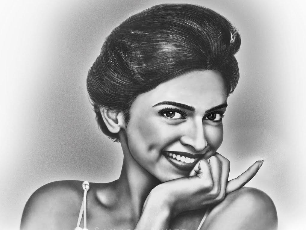 Drawn portrait bollywood Pencil Draw Pencil of Deepika