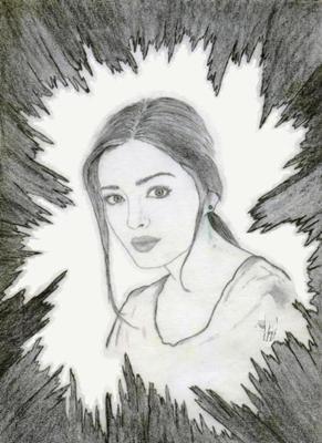 Drawn portrait bollywood Aish Lifelike Portraits  My