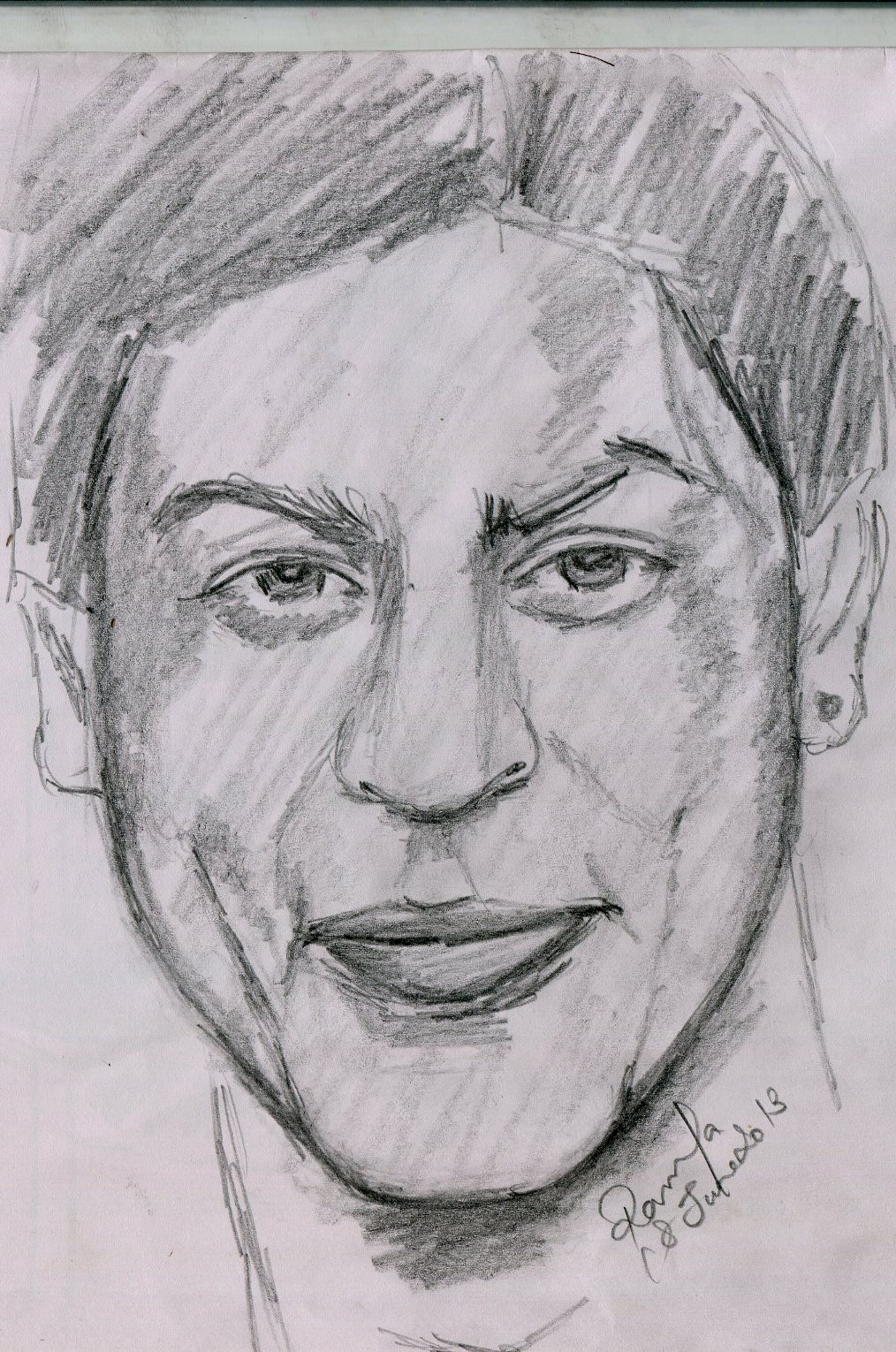 Drawn portrait bollywood Of Drawing Fame Fame Khan