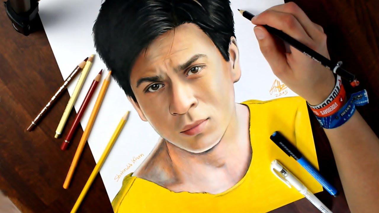 Drawn portrait bollywood Shah Shah REALISTIC (Bollywood) Lapse