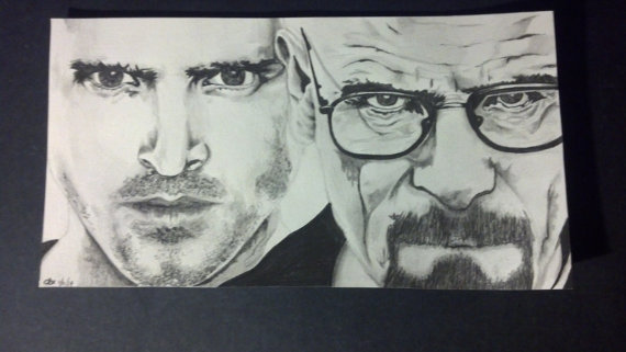 Drawn portrait breaking bad Jesse Hand and portrait show