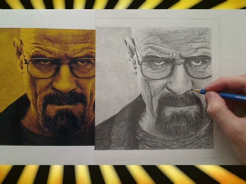 Drawn portrait breaking bad Walter YouTube Breaking White (Time