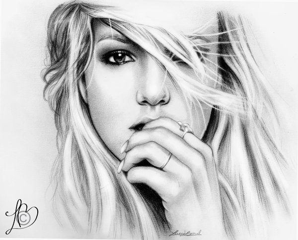 Drawn portrait britney spears Finnish by Finnish Penguin Penguin