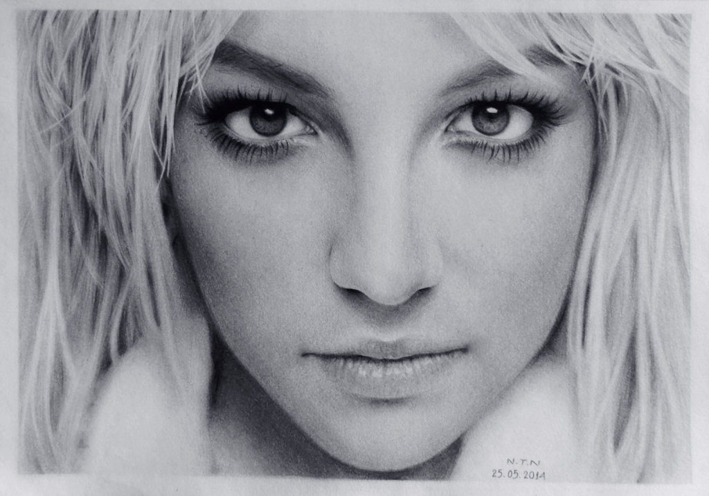 Drawn portrait britney spears On Nguyen Nguyen Britney DeviantArt