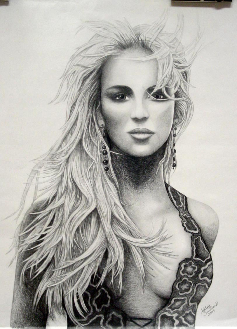 Drawn portrait britney spears By drawing by ASaunders ASaunders